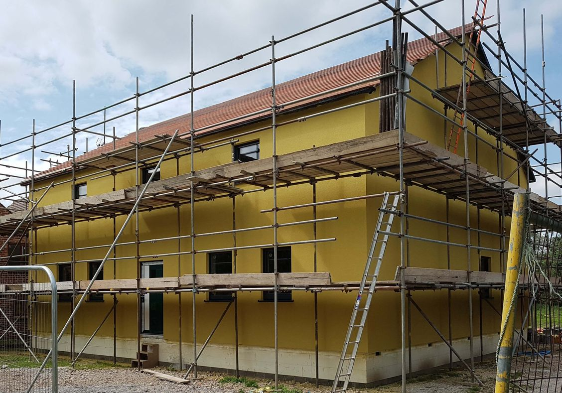ICF Passiv House with Alsecco Silicone Render